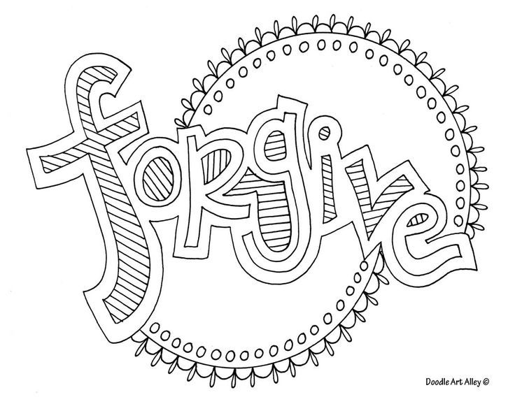 Forgive Doodle Coloring Page
