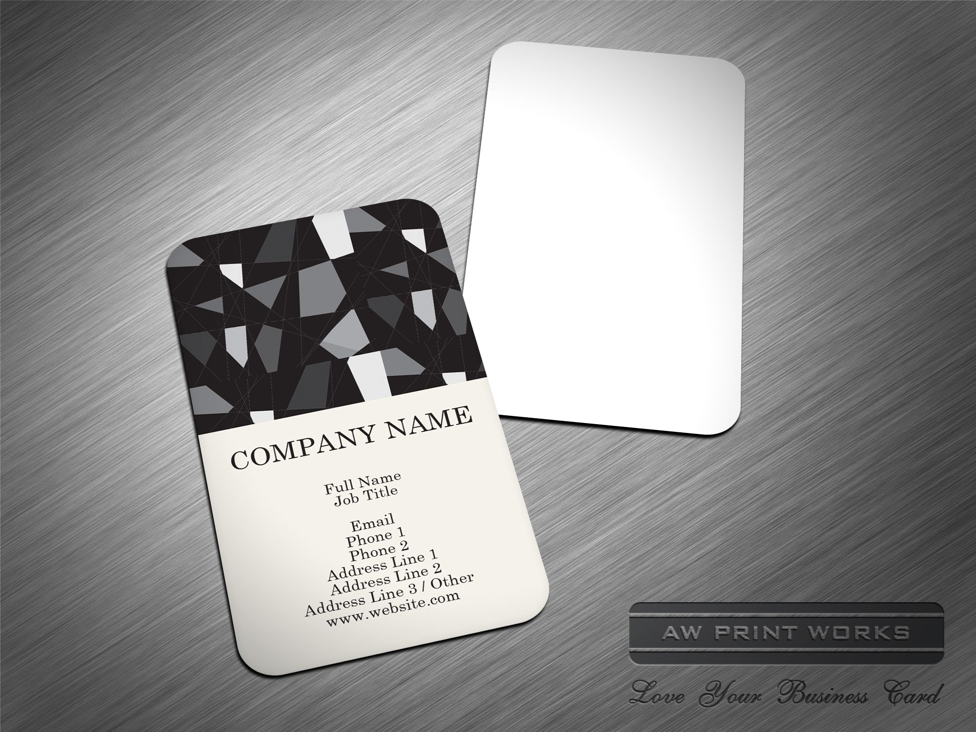 Universal Business Card Template 580 Www Awprintworks Com Love