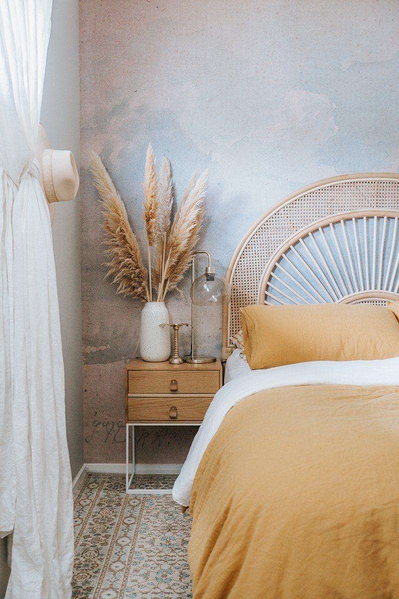 Anjara Bone Blue Floral Stonewashed Rug Miss Amara Au Rattan Bedroom Bedroom Styles Accent Rugs Bedroom