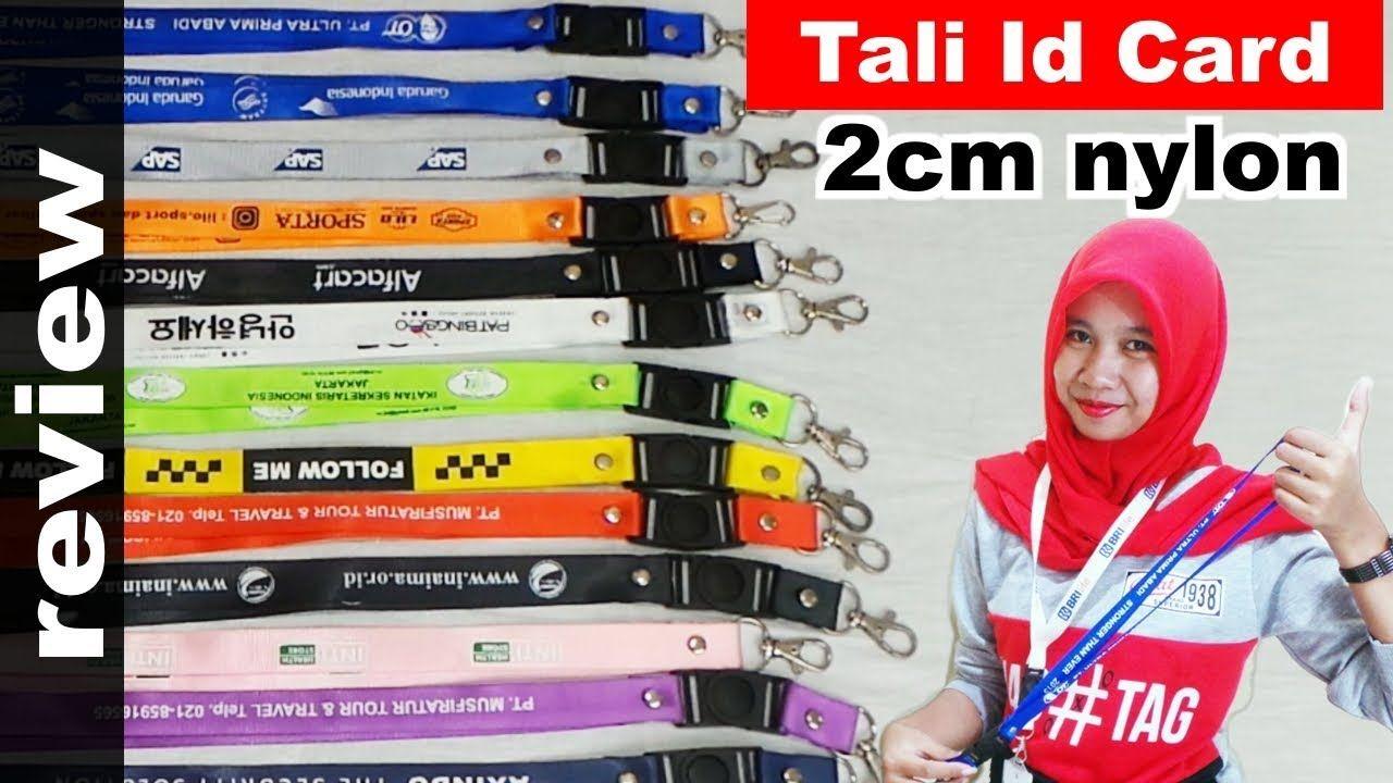 Review Tali Id Card 2cm Bahan Nylon Name Tag Pin Yoyo Nametag Dan