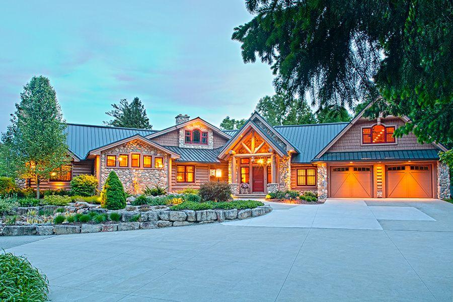 Exteriors By Wisconsin Log Homes   National Design U0026 Build Services   Log,  Timber Frame