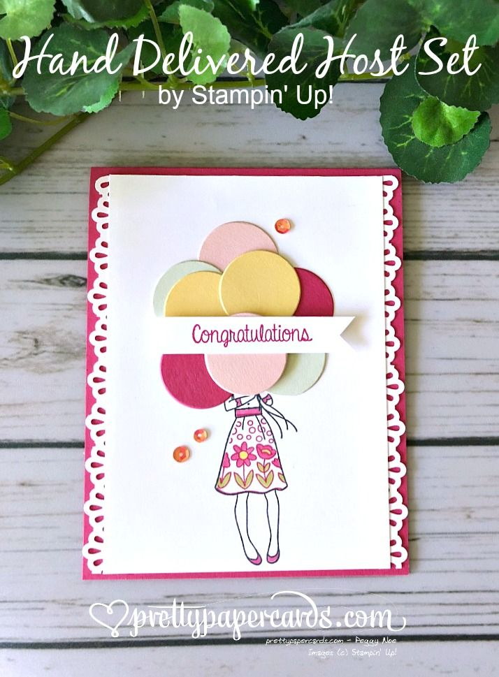 Stampin' Up! Hand Delivered - Peggy Noe - stampinup - Congratulations Card with a balloon bouquet!