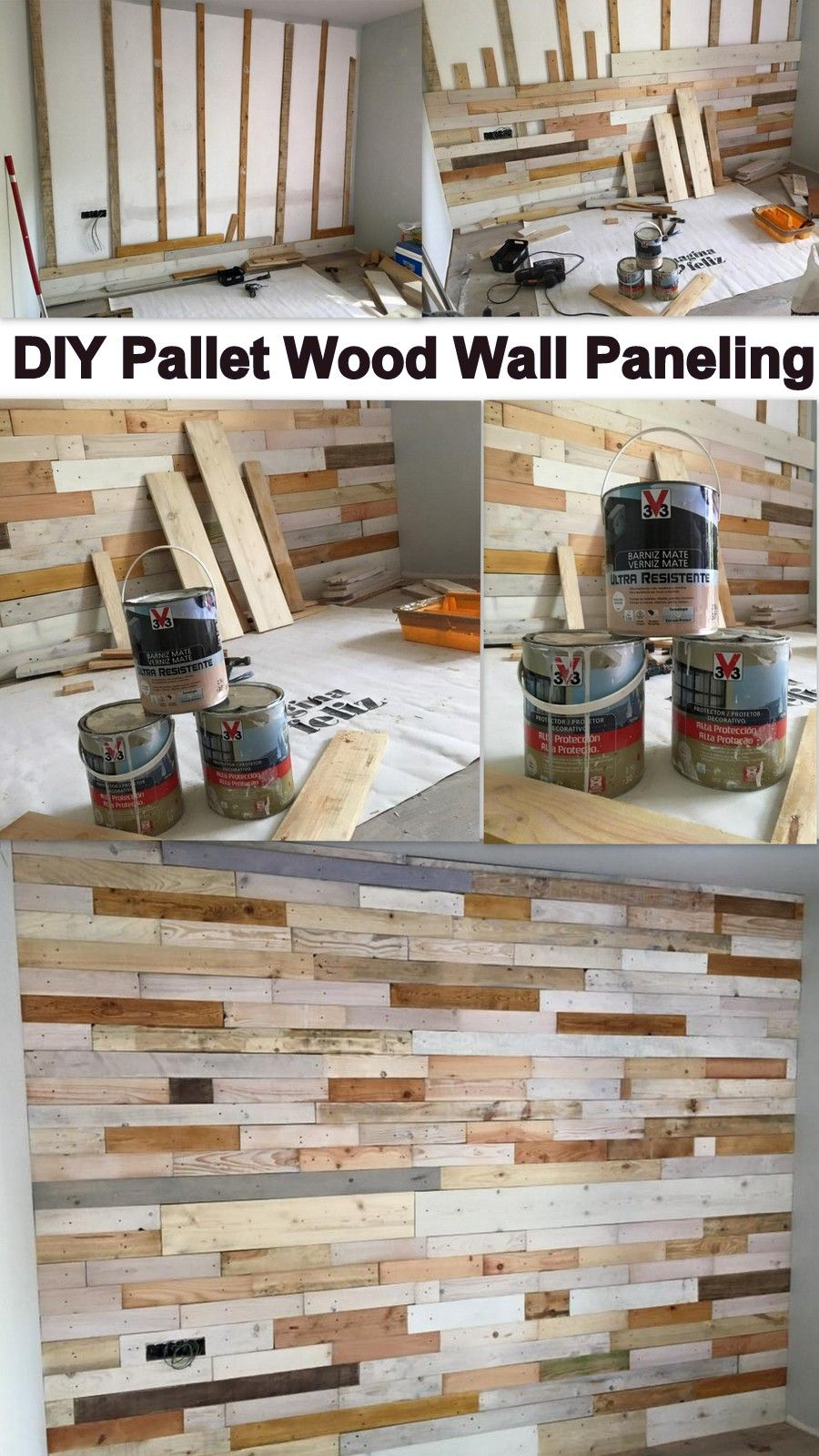 Wood Wall Cladding: DIY Pallet Wood Wall Paneling