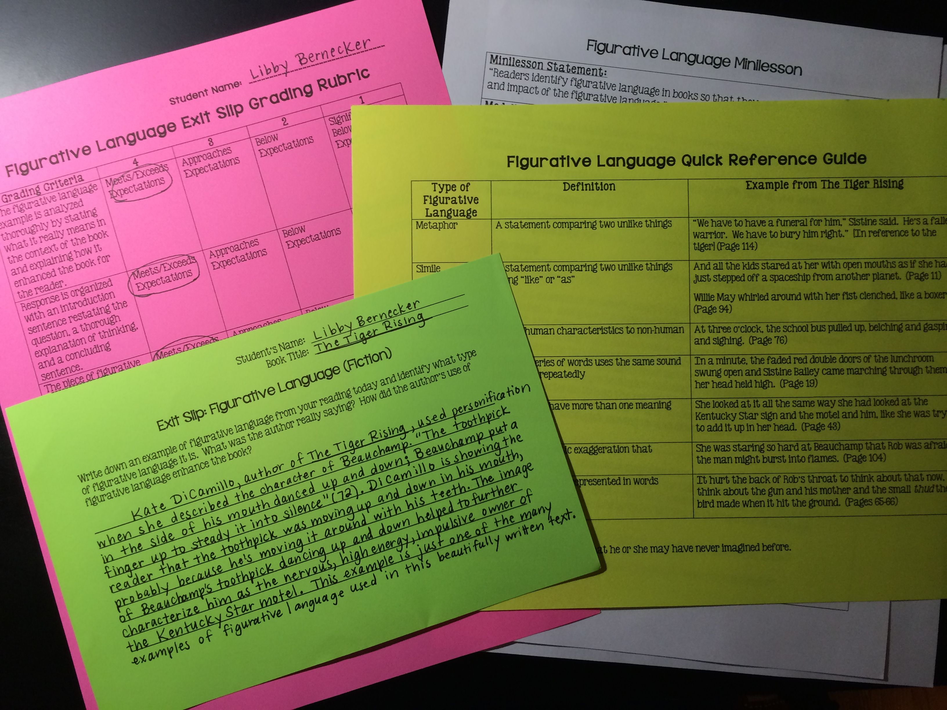 Minilessons To Teach Figurative Language In Reading
