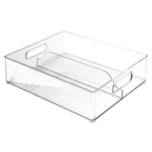 Interdesign Refrigerator And Freezer Divided Storage Organizer Bins For Kitchen Undefined Rangement Decoration Plastique