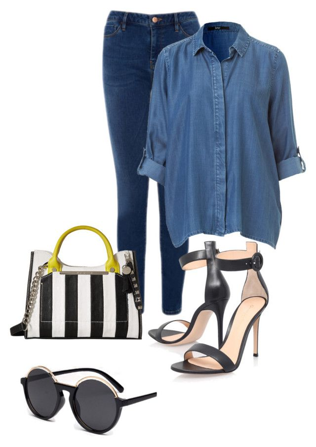 """Sin título #170"" by winterbirds on Polyvore featuring moda, Warehouse, Gianvito Rossi y Steve Madden"
