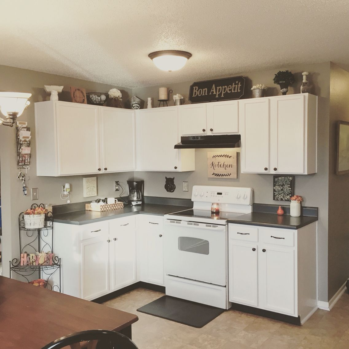 Painted kitchen cabinets with Ace Hardware Cabinet Door