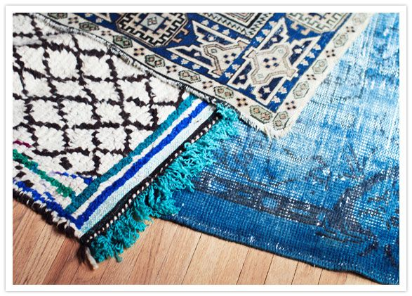 Home Mint- blue ethnic rugs- can I be more in love?