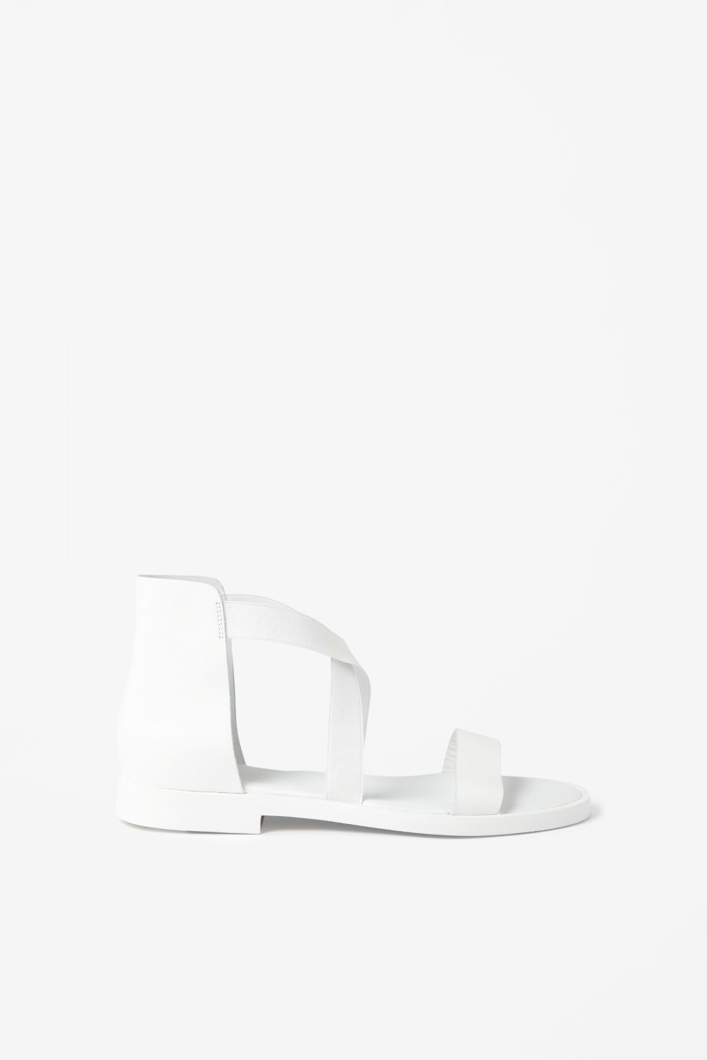 COS White cross-over sandals