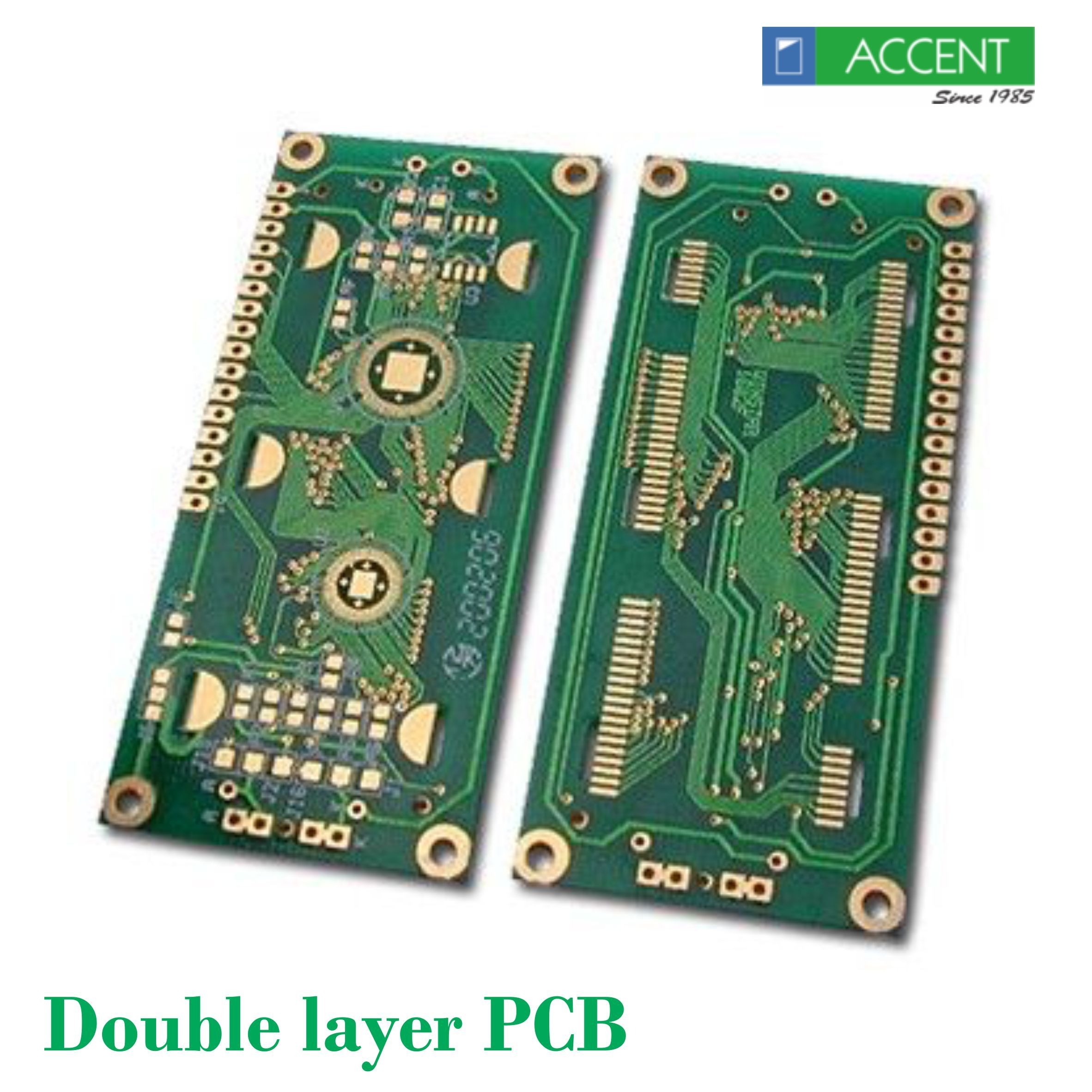 Double Layer Pcb The Double Layer Or Double Sided Printed Circuit Boards Have Twice The Area For Electronic Circuit Board Printed Circuit Manufacturing
