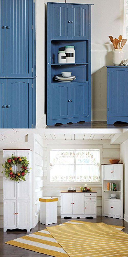 Brylanehome Country Kitchen Corner Cabinet Blue 0