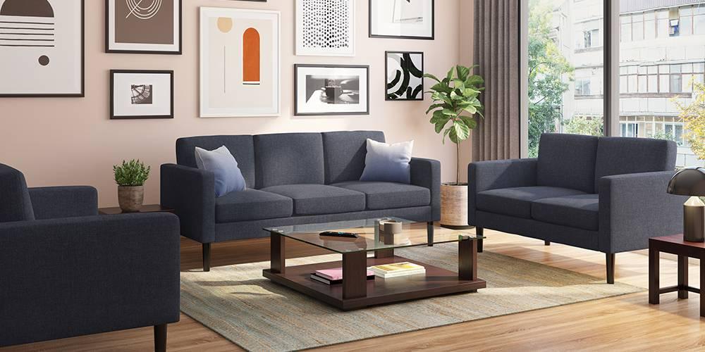 Liverpool Sofa (Blue) | Sofa Set Online, Blue Sofa, Fabric Sofa Design