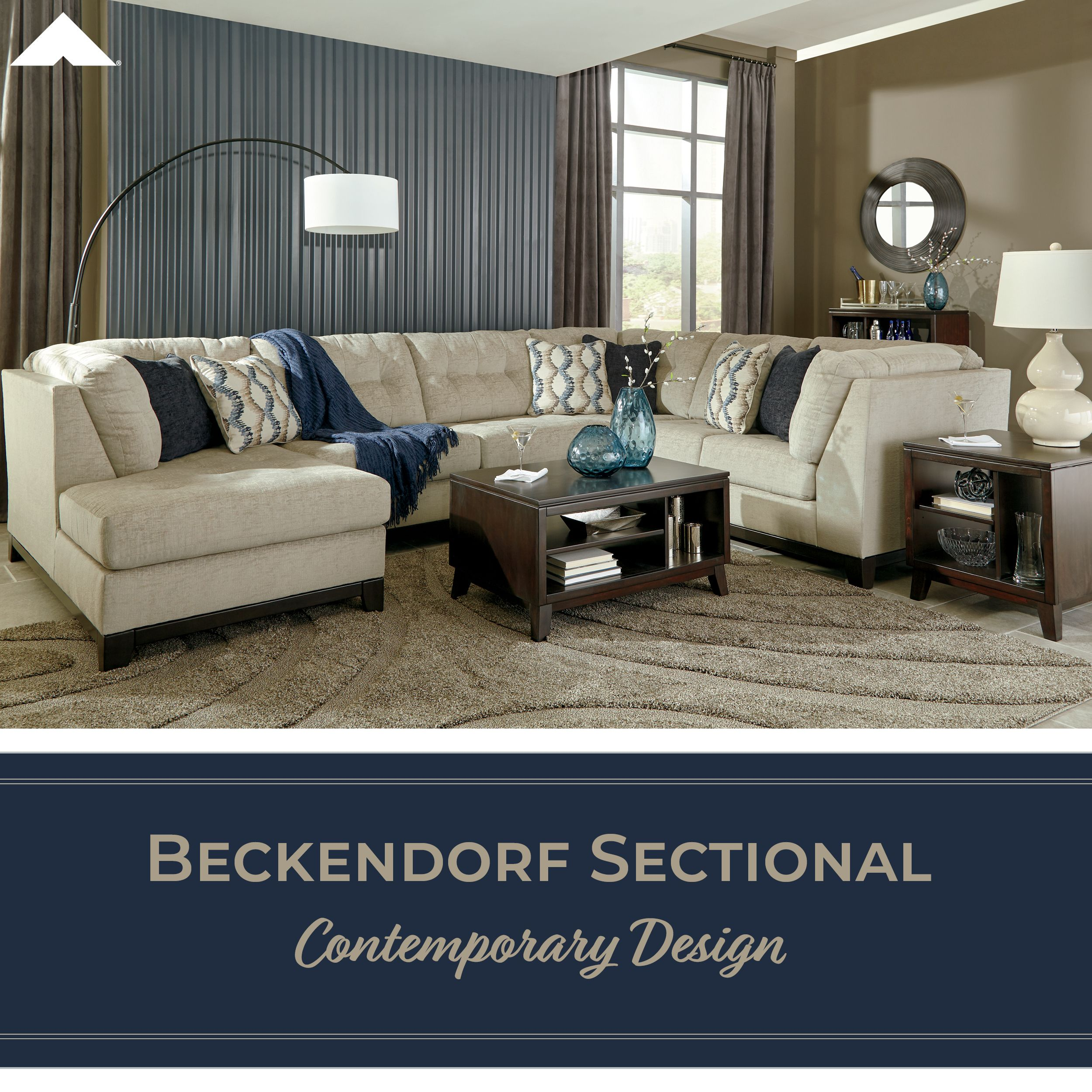 Beckendorf Contemporary Design Sectional By Ashley Furniture