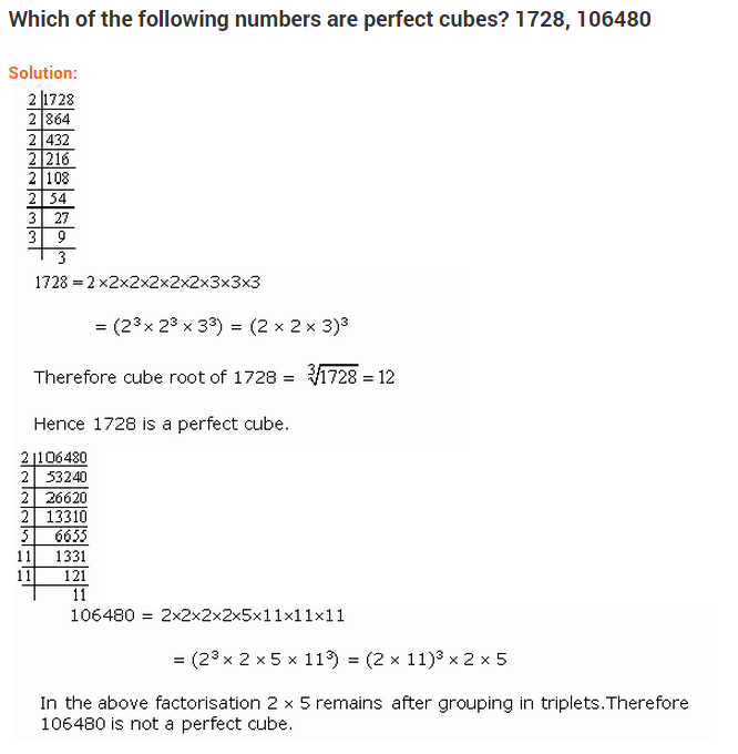 Cubes And Cube Roots Ncert Extra Questions For Class 8 Mathsncert