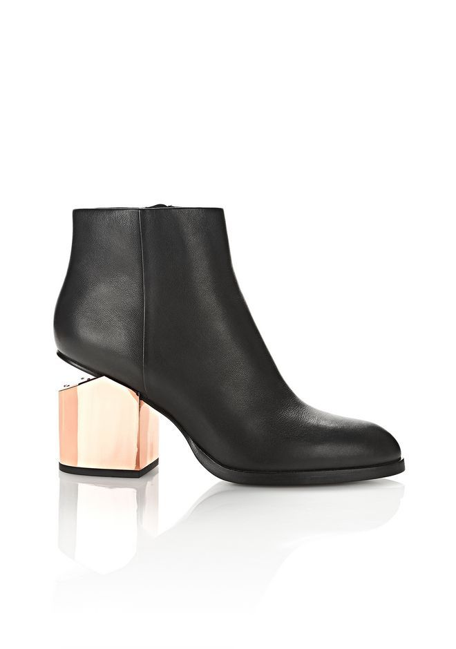 ALEXANDER WANG. Rose Gold HeelsBlack Ankle BootsFall ...