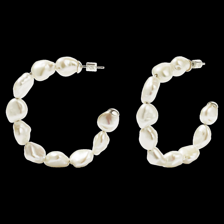 Romeo Hoop Earrings Meadowlark Jewellery Earrings Pearls