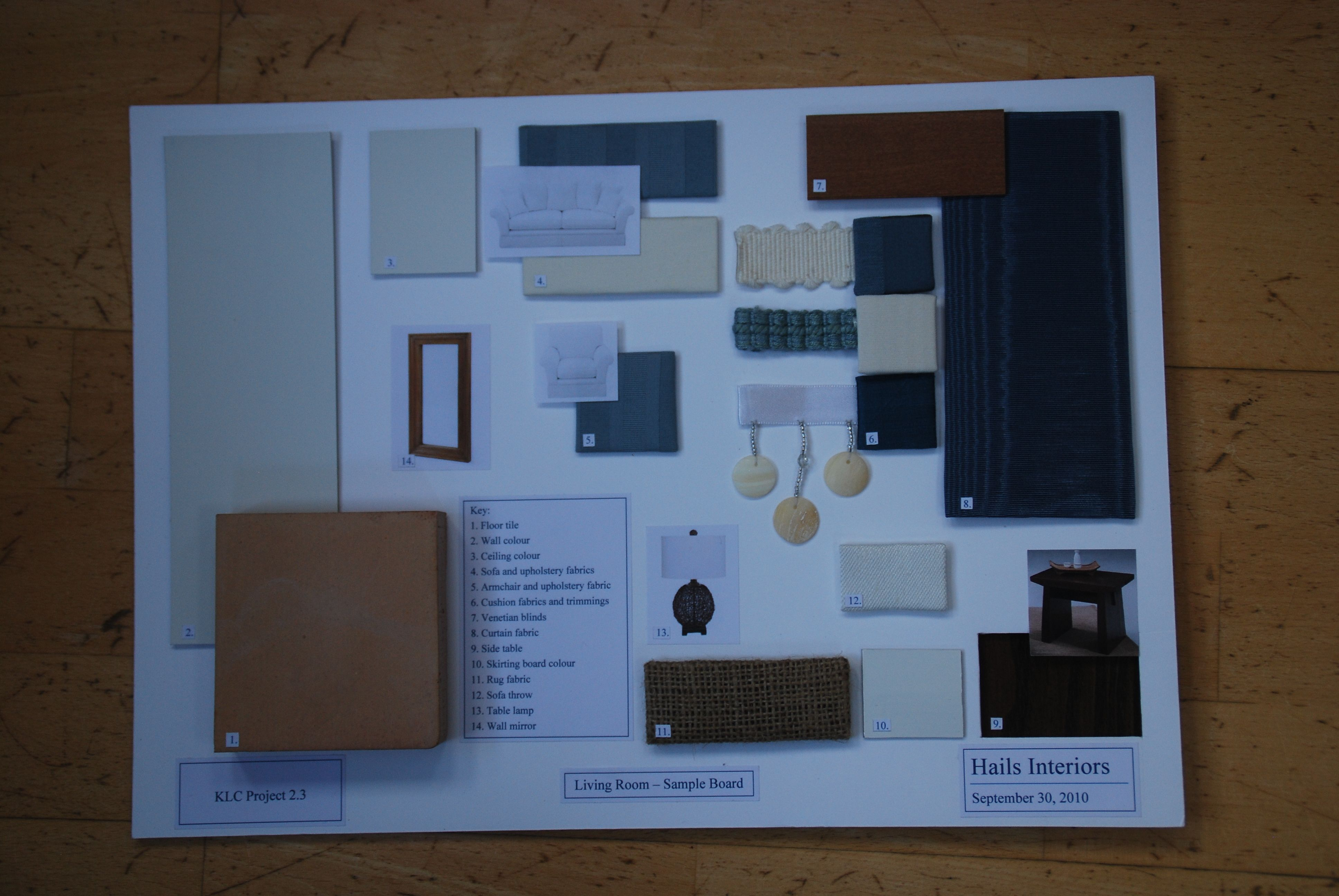 Sample Board For Interior Design