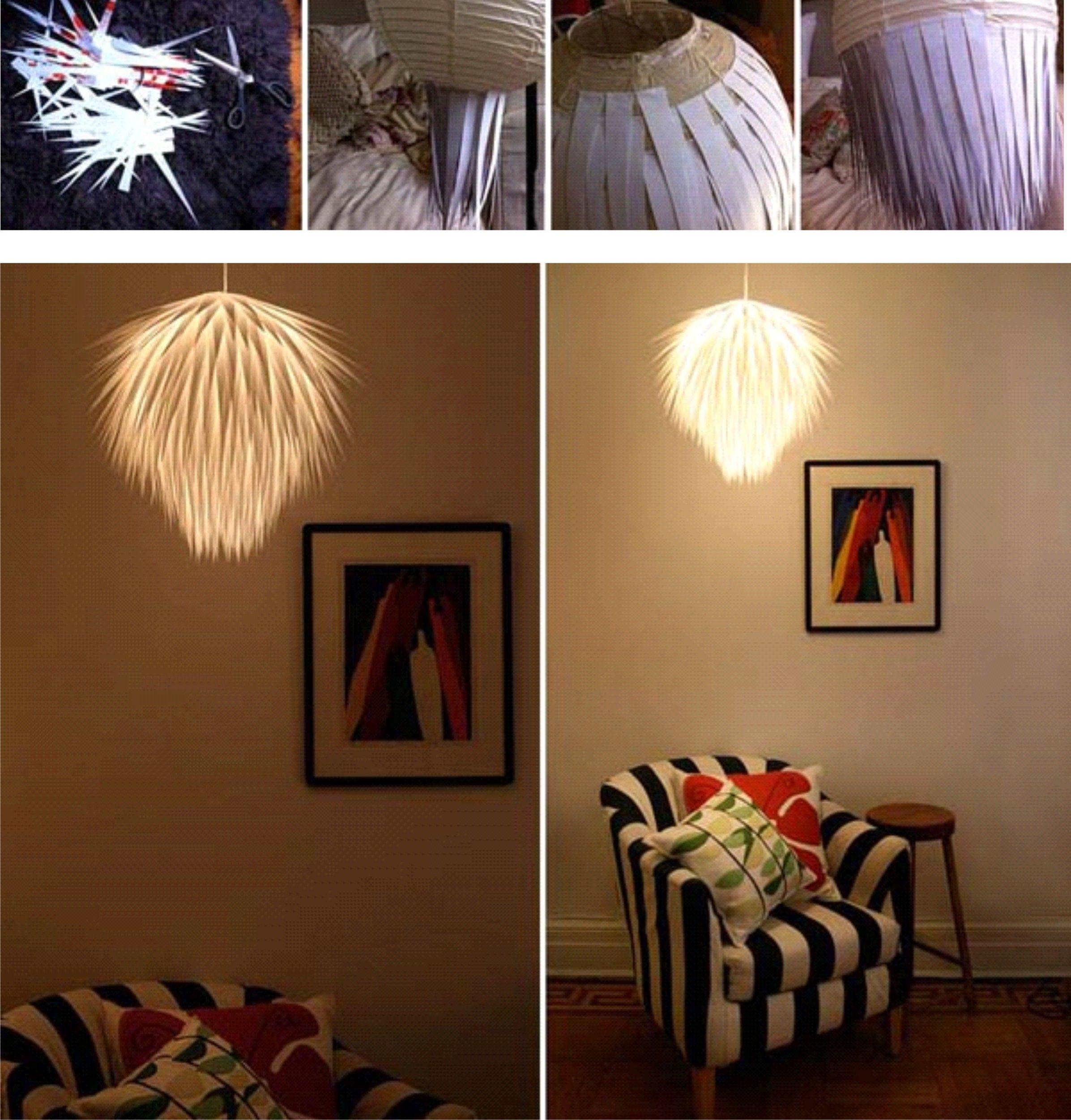 Wie aus einer alten IKEA lampe und Paier etwas magisches entsteht