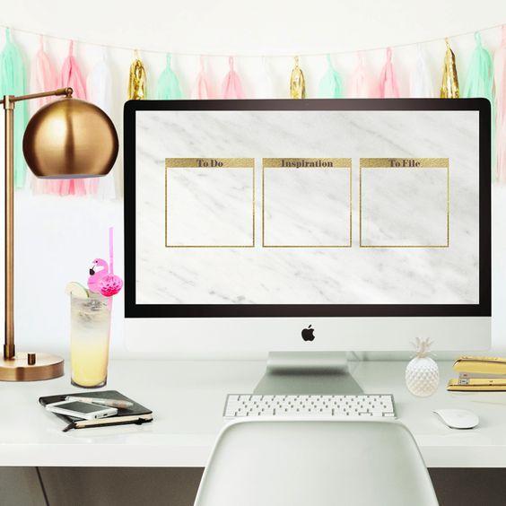 Marvelous Freebie Marble Desktop Wallpaper Organizer Fabulous Home Interior And Landscaping Eliaenasavecom
