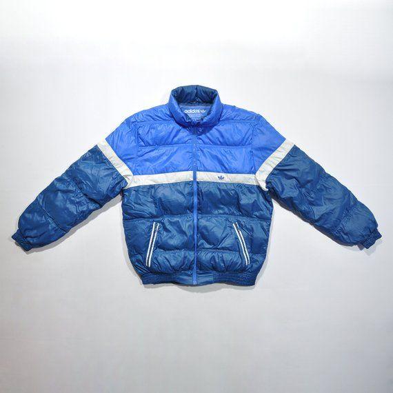 cfb487b56 Vintage 90s ADIDAS Bomber Padding Padded Jacket / ADIDAS Puffer Puffy  Winter Jacket / ADIDAS Windbreaker Multi Color Streetwear Color Block