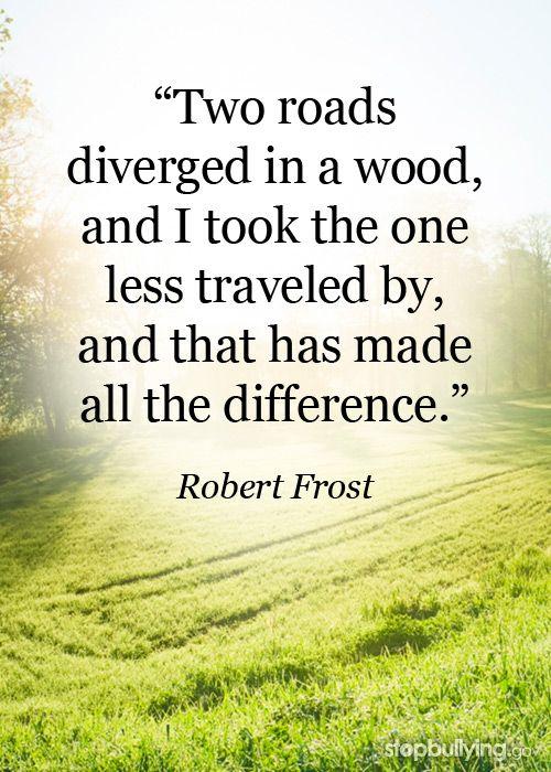 robert frost path less traveled