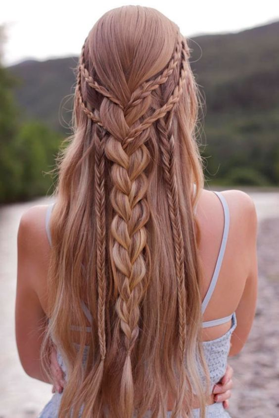 60 Best Bohemian Hairstyles That Turn Heads Prom Hairstyles For Long Hair Hair Styles Long Hair Styles