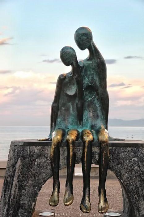 sculpture on Malecon (boardwalk) in Puerto Vallarta, Mexico