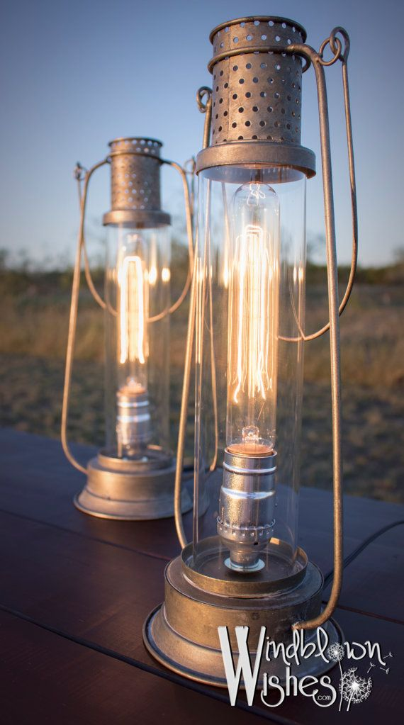 Edison Lamps Vintage Inspired Yet Modern By Windblownwishesshop Lamp Edison Lamp Modern Lanterns