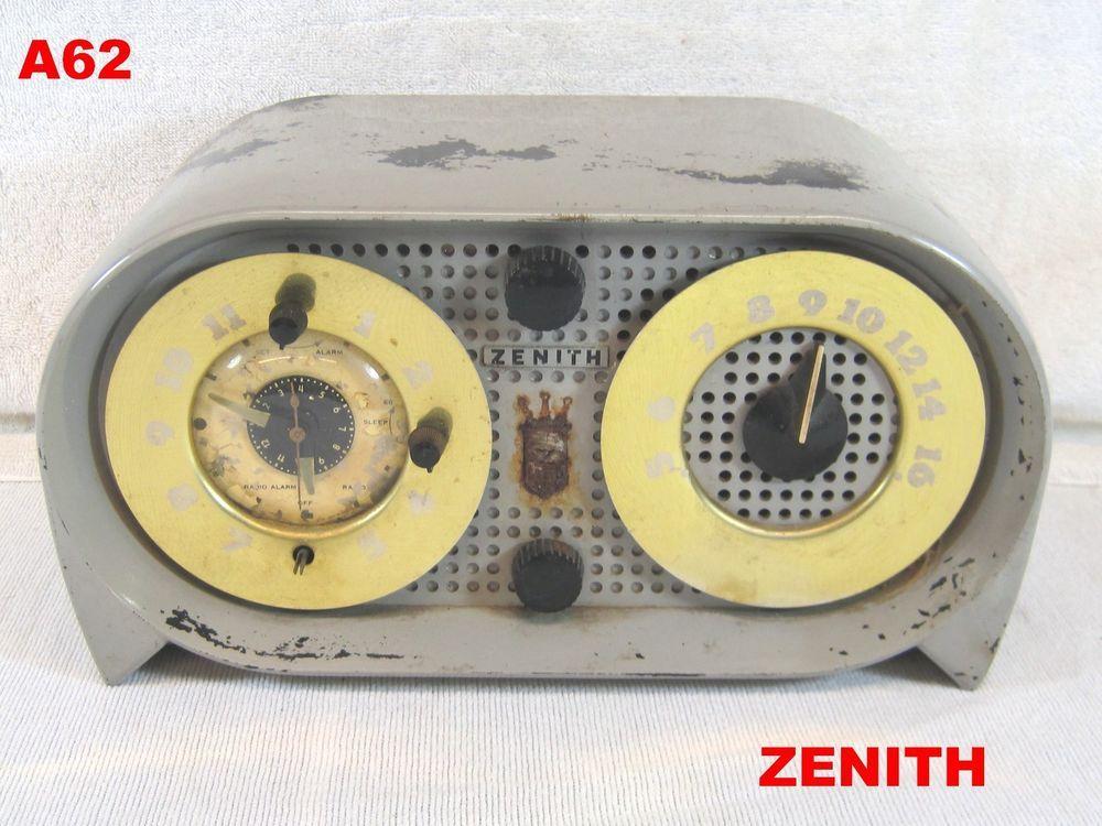 VINTAGE ZENITH BAKELITE TUBE RADIO OWL EYES ANTIQUE AMERICAN