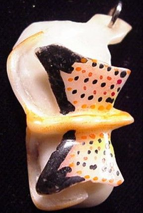 Wounaan Butterfly Tagua Pendant Carving-Panama 3.48430