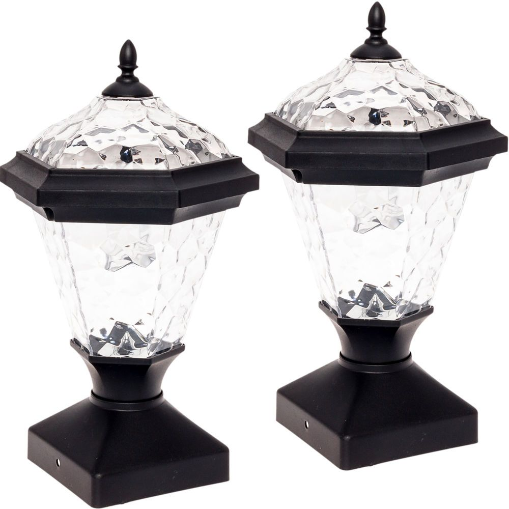 2 Pack GreenLighting Adonia Solar Post Cap Light for 4 x 4