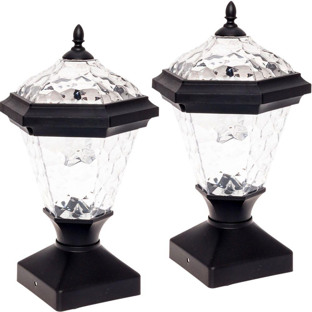 2 Pack GreenLighting Adonia Solar Post Cap Light for 4 x 4