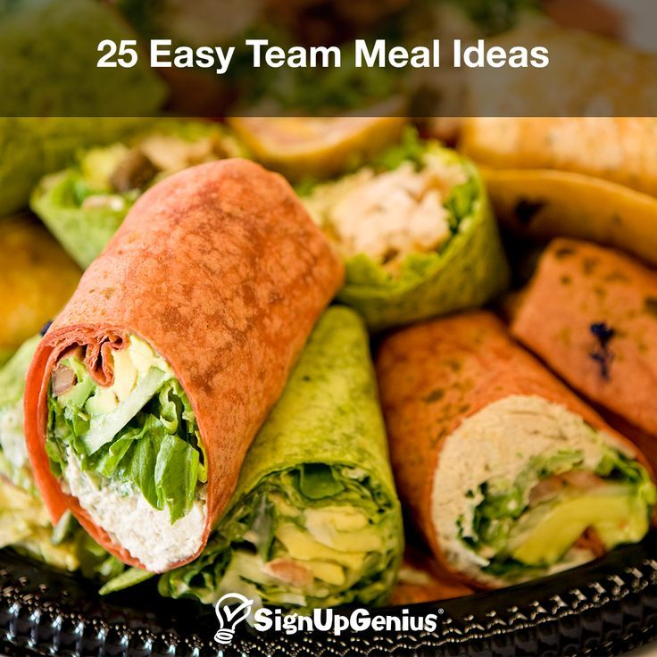 25 Easy Team Meal Ideas. Help Team Build And Bond Your
