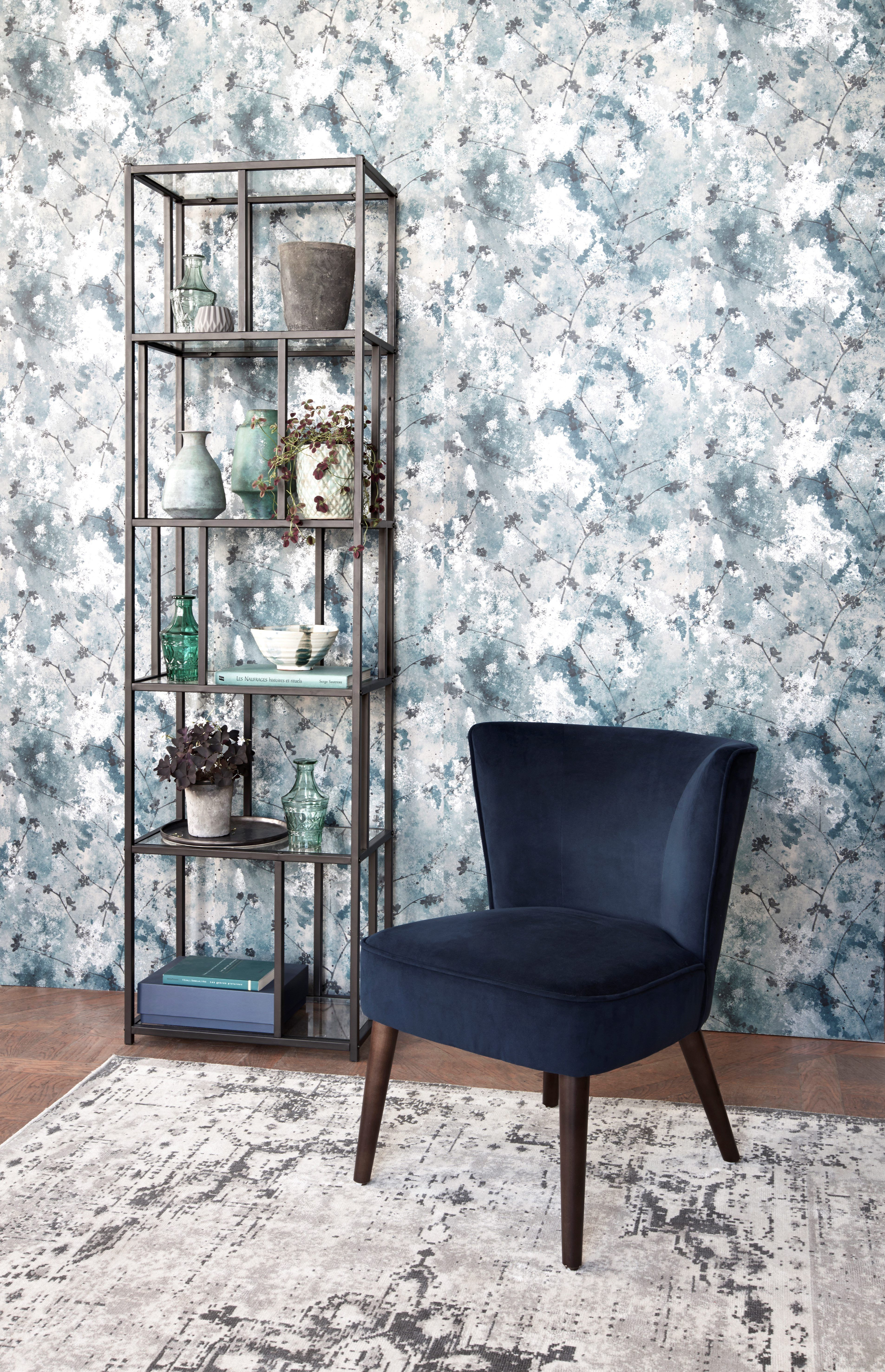 Fauteuil Harry Tissu Velours Bleu Marine Mobilier De Salon Decoration Maison Decoration Salon