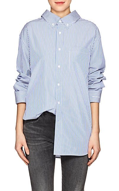 Cheap Outlet Locations Discount Purchase Womens Striped Cotton Poplin Button-Down Blouse Barneys New York From China For Sale Cheap Sale Outlet K29BufDw