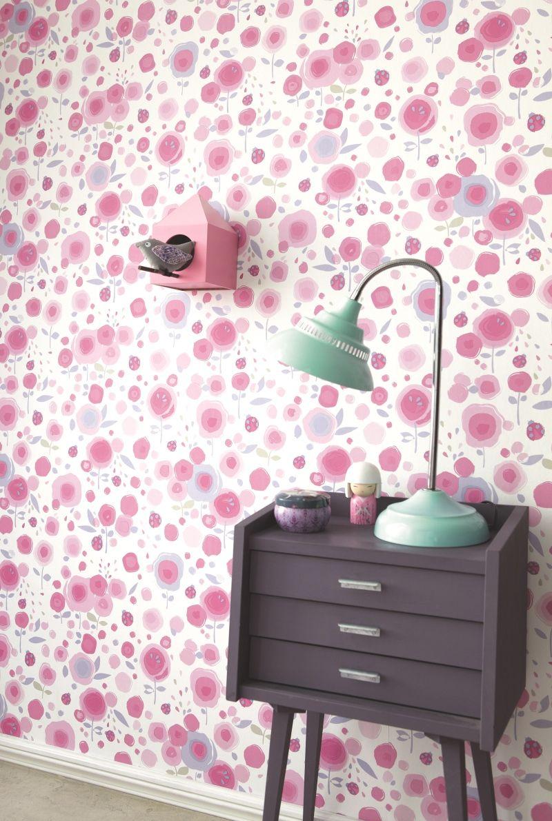 Tapeten schlafzimmer flieder  Camengo Tapete Blumen lila 'Abracadabra' bei Fantasyroom online ...