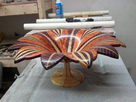 "Dyed Black Veneer Woodturning Segments 12/"" x 12/"" 3 pcs."