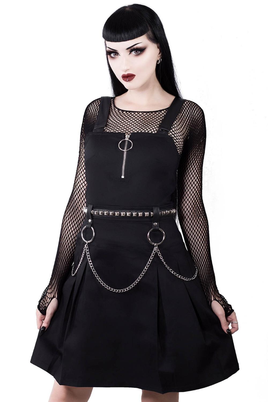 Regan Pinafore Dress B Dresses Wear Black Dresses Alternative Outfits [ 1500 x 1000 Pixel ]