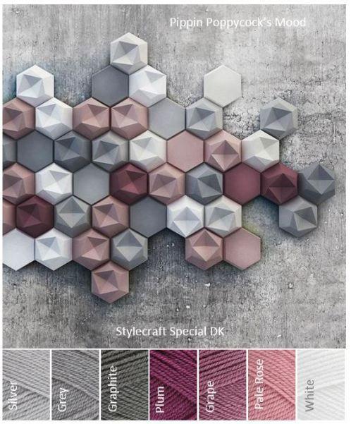 Hexagons – pippin poppycock #slaapkamerkleuren