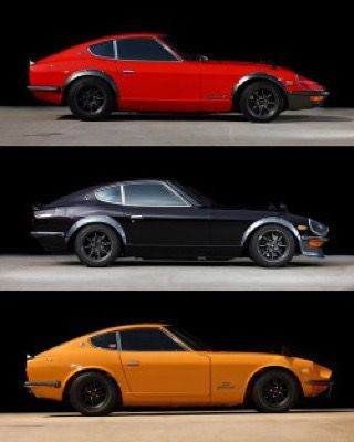 Which is your favorite?  What's in your garage?  Tag a friend. #Datsun #datsun240z #datsun260z #datsun280z #datsungarage #zcar #s30 #jdm #fairladyz #gnose #fenderflares #watanabe #432