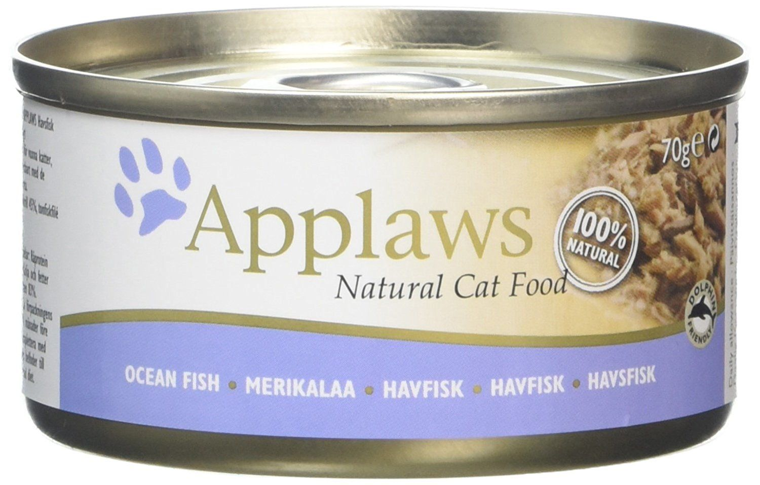 Applaws cat food tin ocean fish 70g pack of 24 compare