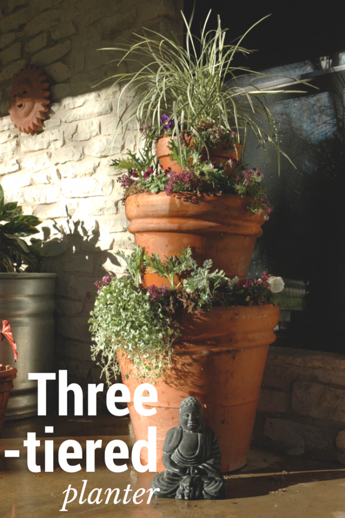 3 Tiered Planter Container Planting Ideas Tiered Planter Planters Plants