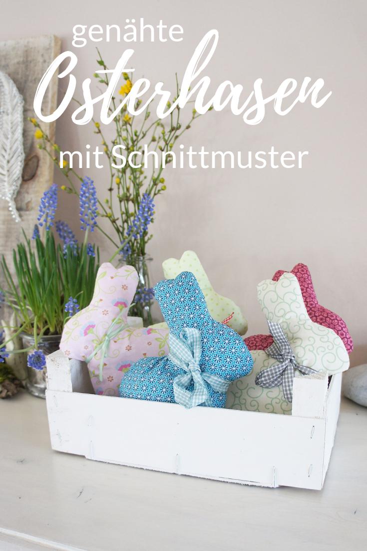 Osterhasen selber nähen mit kostenlosem Schnittmuster und Anleitung #hoppyeaster