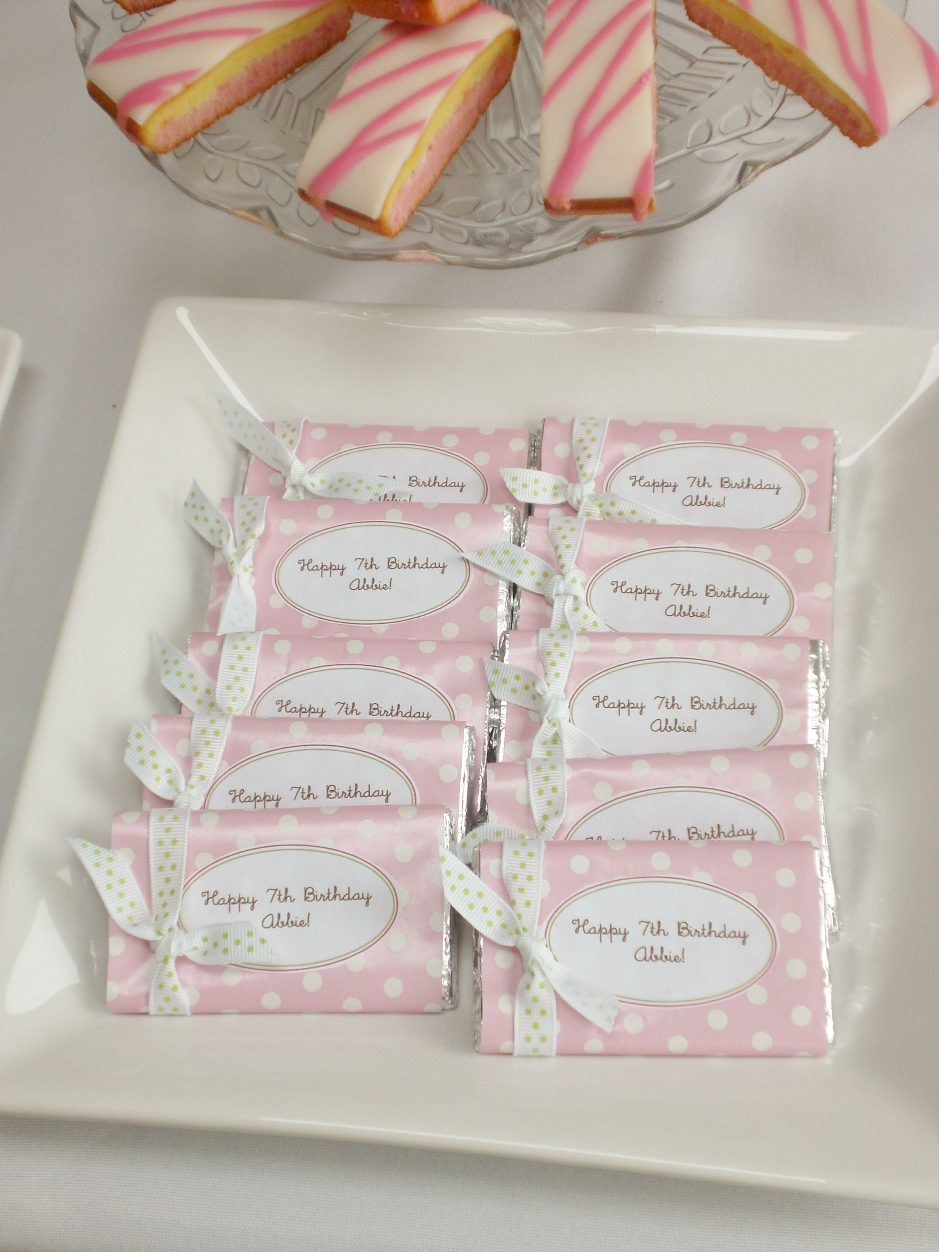 Our mini chocolate bars are ultra small & cute and make fab party ...
