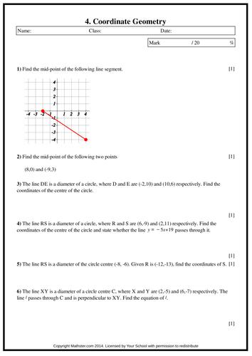 Coordinate Geometry Pdf