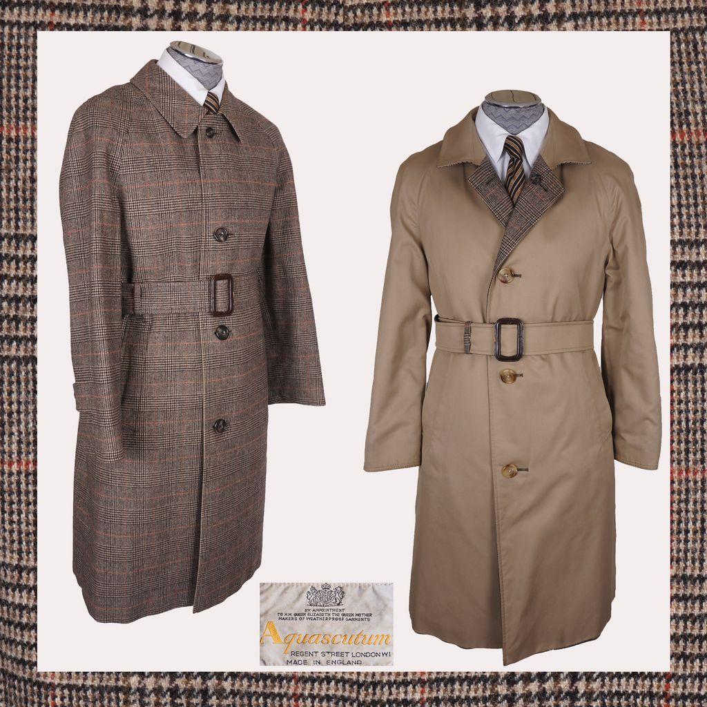 men's vintage coats 60s Vintage 60s Glen Plaid