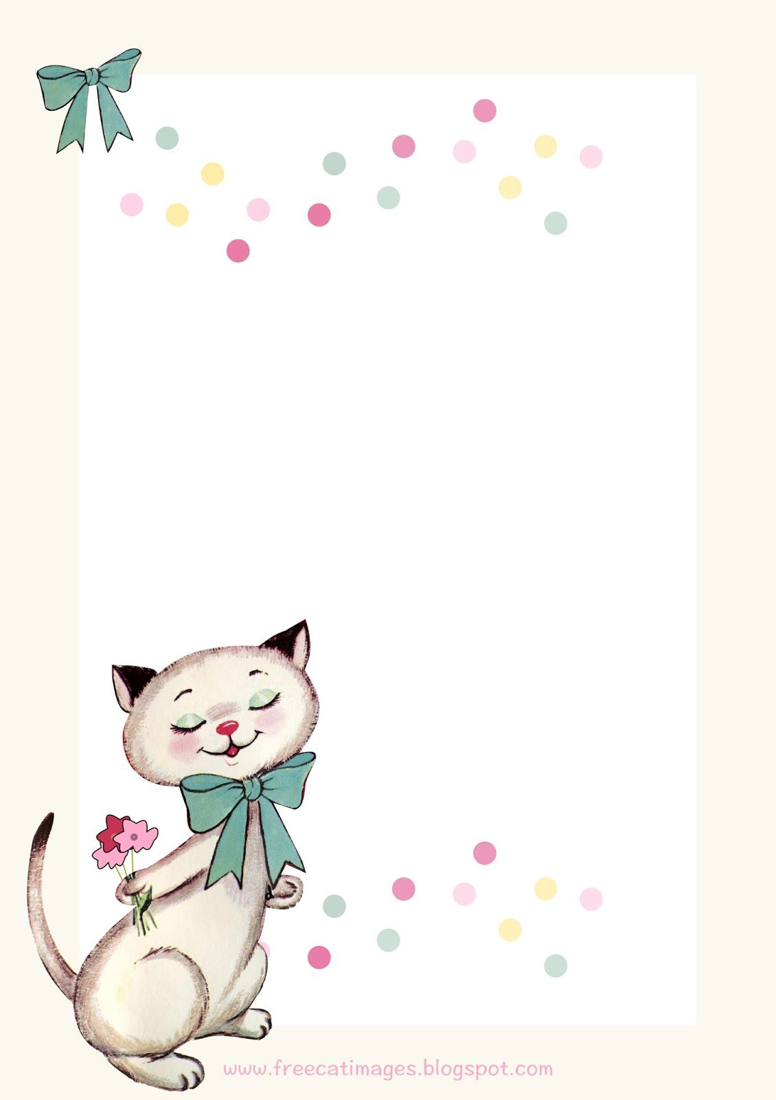 Free Cat Images Free Printable Vintage Kitty Stationery Freebie
