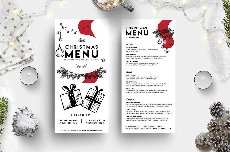 Christmas Menus 2020 Christmas Menu Template Vol.3 | Christmas menu, Christmas menu