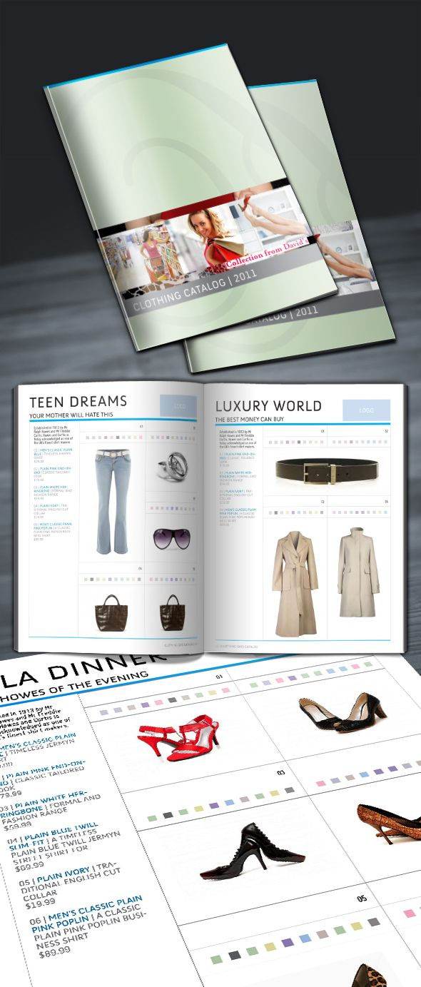 clothing-catalog-indesign-template-preview | Creative Process ...