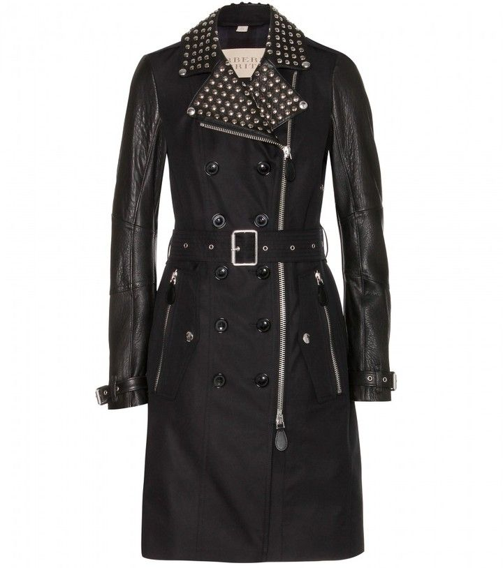 Burberry Callowsby cotton-drill and leather trench coat on shopstyle.com